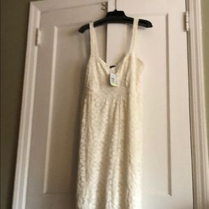 Lace white thin strapped dress